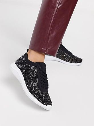 Kurt Geiger Heatseal Flyknit Sneaker-Schwarz