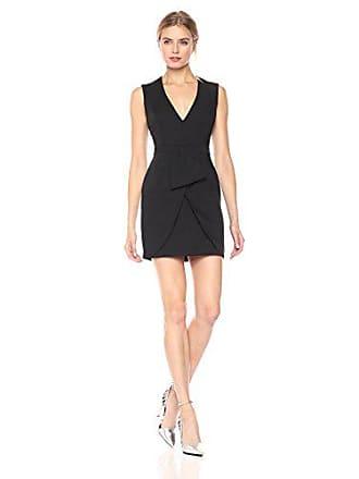 Bcbgmaxazria BCBGMax Azria Womens Clare Woven Sleeveless V-Neck Dress, Black, 0