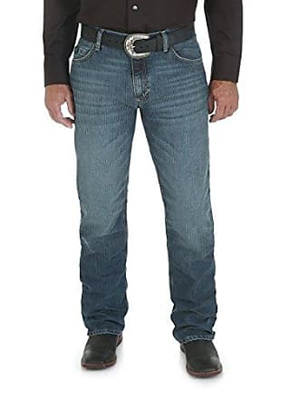 Wrangler Mens 20X Cool Vantage Competition Slim Fit Storm Blue Jean, Storm Blue, 38x30