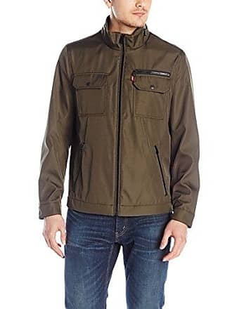 Levi's Mens Synthetic Ribstop Jacket, Olive, X-Large