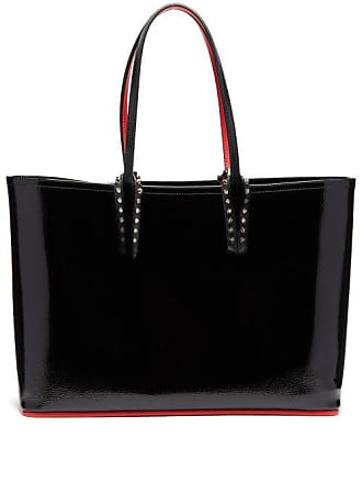Christian Louboutin Cabata Patent Leather Tote - Womens - Black
