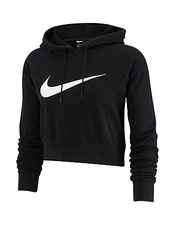 2d6ac630716ad Nike FELPA CROP CON CAPPUCCIO SWOOSH DONNA