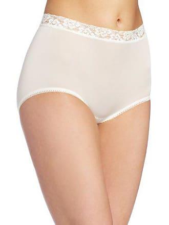 Wacoal Underwear Bodysuede Lace Waist Brief, Ivory, Size 5