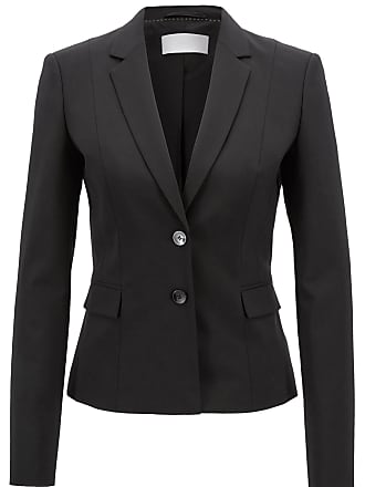 BOSS Stretch wool jacket with narrow lapels