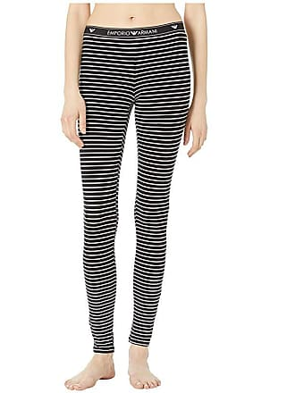 c9ce50e50fff42 Emporio Armani St Tropez Mon Amour Leggings (Black Stripe/White) Womens  Casual Pants