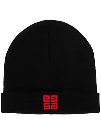 Givenchy logo embroidered beanie hat - Black
