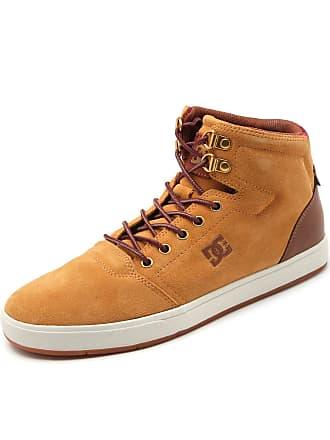 DC Tênis Couro DC Shoes Crisis High Amarelo