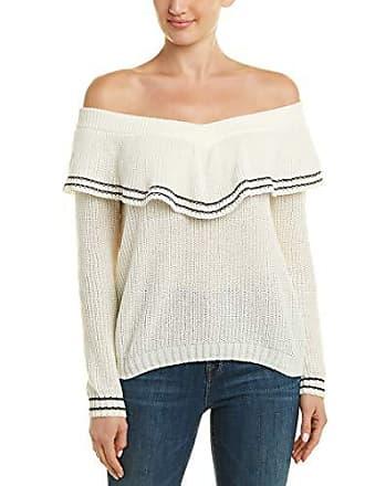 BB Dakota Womens Rush Week Off The Shoulder Sweater, Ivory, Large