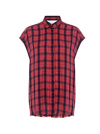 Iro Kenna Sleeveless Plaid Shirt Red