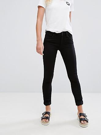 Monki Mocki - Jean slim taille mi-haute avec coton bio - Noir profond - 7fd02a413e9a