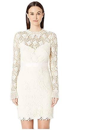 852cd6c778c Monique Lhuillier Long Sleeve Lace Cocktail Dress (Ivory) Womens Dress