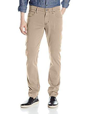 fe7f134f1a2 Hudson Mens Blake Slim Straight Leg + Double Cuff Lightweight Twill Pant,  Victorous Khaki,