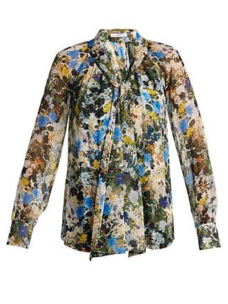 02b8707f5f334 Erdem Rosabel Mariko Meadow Silk Blouse - Womens - Blue Print