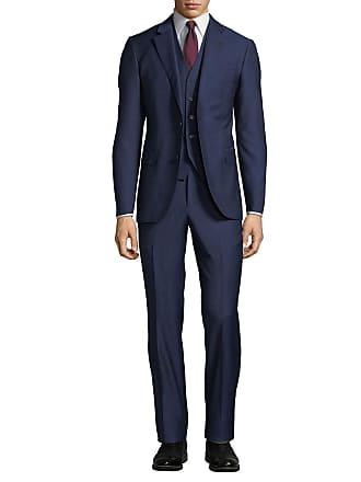 Neiman Marcus Mens Mini Box Weave Vested 3-Piece Suit