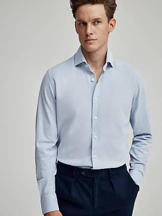 Hackett Mens Cotton Jersey Shirt | 2XL | Sky