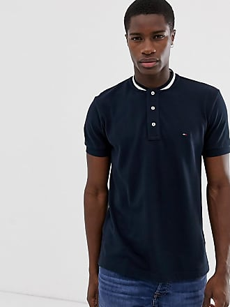 12c2d80b8 Tommy Hilfiger tipped baseball collar polo regualr fit in navy