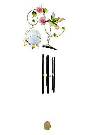 Great World Company Hummingbird Vine Wind Chime with Solar Ball - 3021001