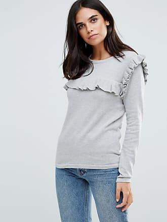 Vila Ruffle Sweater - Gray