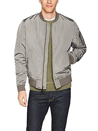 Goodthreads Mens Bomber Jacket, Grey, Large