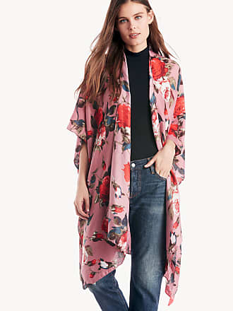 Sole Society Womens Over Floral Printed Kimono Mauve Combo One Size From Sole Society