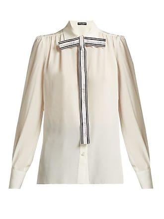 Dolce & Gabbana Silk Blouse - Womens - White