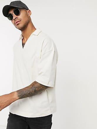 Asos Oversize-Polohemd in Beige mit Reverskrage