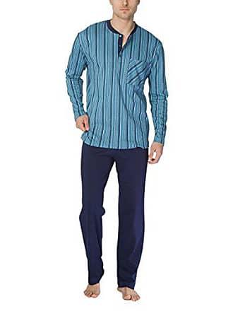 23507e8f6aab CALIDA Clint Herren Pyjama Pigiama, Multicolore (Blue Slate 376), L Uomo