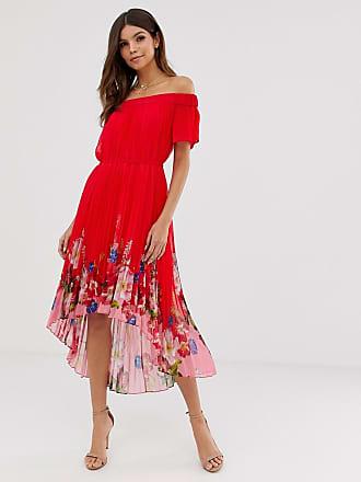 Ted Baker Gillyy bardot dress in berry sundae - Red
