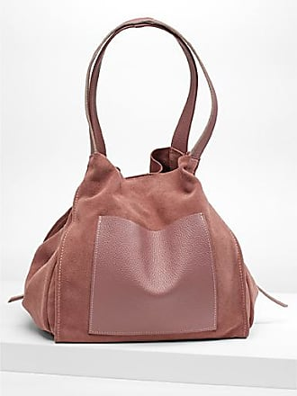 Simons Leather pocket suede tote