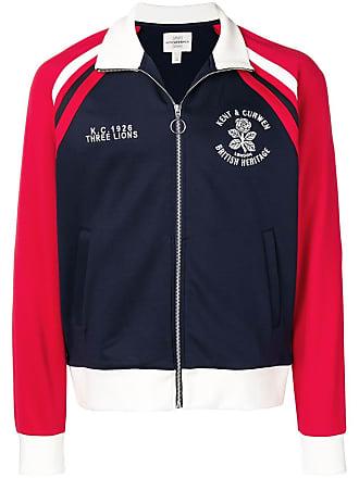 Kent & Curwen embroidered rose sports jacket - Blue