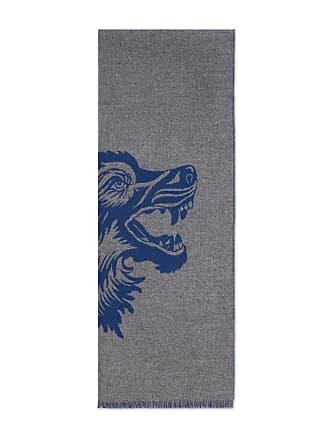 Gucci Écharpe en laine avec loup en jacquard a2b82243033