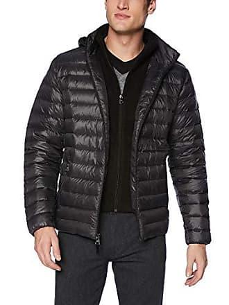 Calvin Klein Mens Packable Down Hoody Jacket, Alloy Grey, Medium
