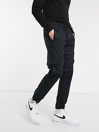Topman cargo trousers in black
