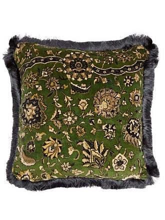 House of Hackney Zanjan Floral-jacquard Cotton Cushion - Dark Green