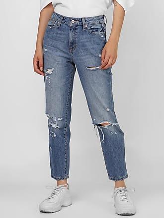 Only Calça Jeans Only Slim Destroyed Azul