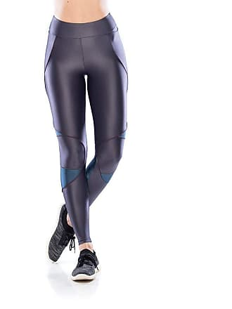 Mulher Elástica Legging Fitness Run - Grafite - P