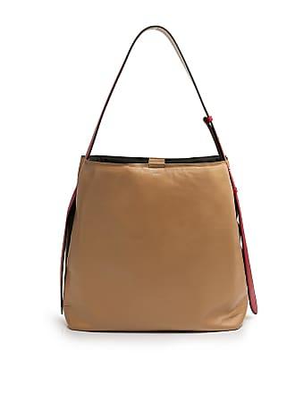 Joseph Pimilcon Nappa Leather Shoulder Bag Beige/red