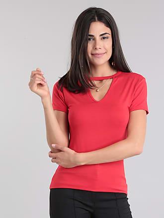 Basics Blusa Básica Choker Vermelha