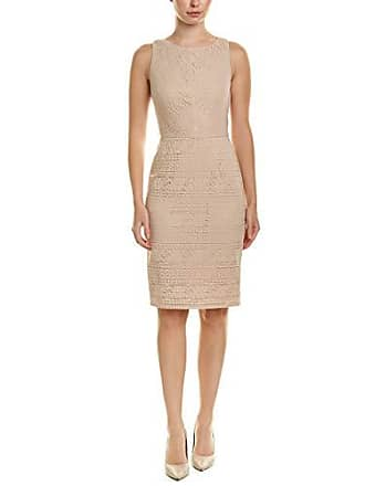 Adrianna Papell Womens Vintage Stripe LACE Sheath Dress, Natural, 8