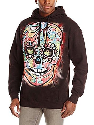 The Mountain Day of the Dead Hoodie, Small, Black