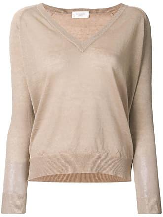 Zanone v-neck knitted jumper - Neutrals