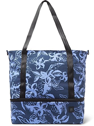 Onia Printed Cotton-canvas Tote Bag - Navy