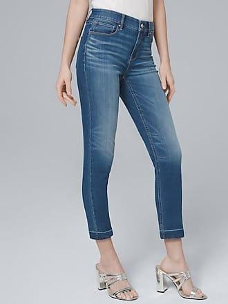 White House Black Market Womens High-Rise Sculpt Fit Slim Crop Jeans by White House Black Market, Medium Wash, Size 00 - Regular