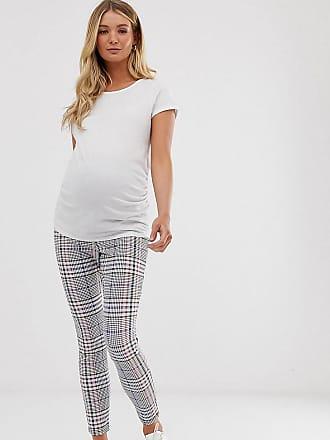 21ba037cfb21e Asos Maternity ASOS DESIGN Maternity check jacquard skinny with bump band -  Multi