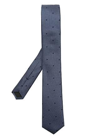 HUGO BOSS Gravata de seda estampada - Azul