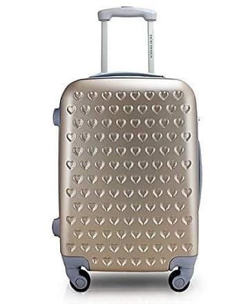 Jacki Design Mala De Viagem Grande Rigida Resistente Com Rodinha Giro 360 Alça Ajustável Jacki Design Love