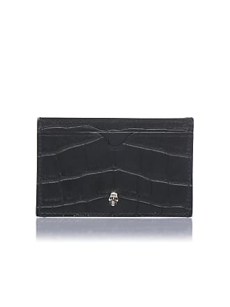 Alexander McQueen Embossed Leather Card Case