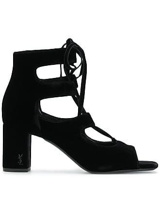 3a4b0b37f198 Saint Laurent LouLou 70 lace-up sandals - Black