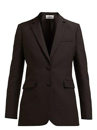 67e51dc64 Valentino Single Breasted Wool And Silk Blend Blazer - Womens - Black