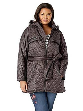 Steve Madden Womens Quilted Softshell Jacket, Titanium, M